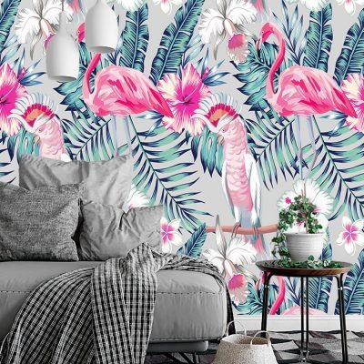 salon z motywem tropików