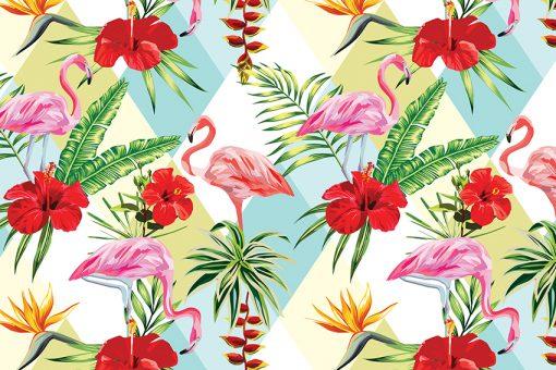 dekoracja z flamingami