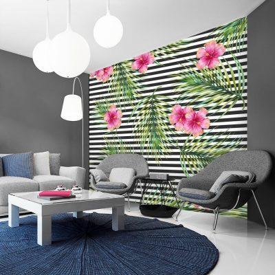 tapeta kwadratowa jako dekoracja