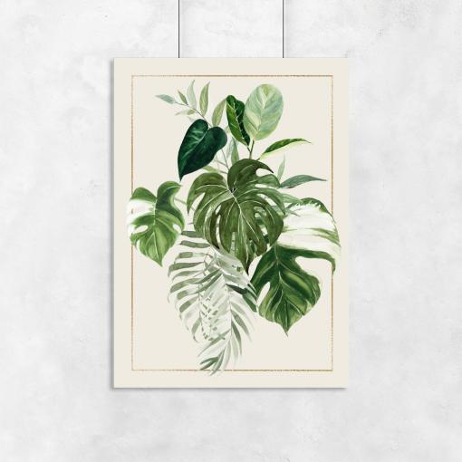 pionowa dekoracja z liśćmi