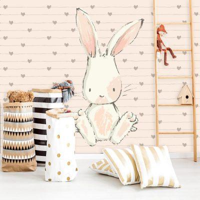 pokój dziecka z motywem królika