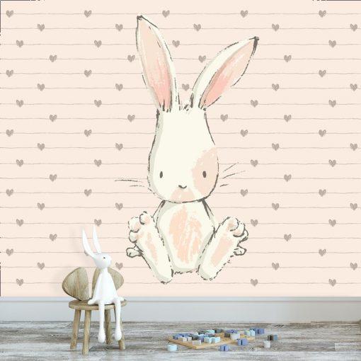 dekoracja z motywem królika