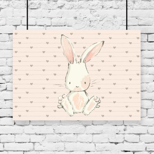 królik na plakacie