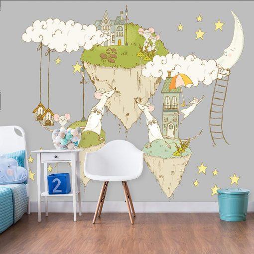 tapeta dla dziecka ze zwierzątkami