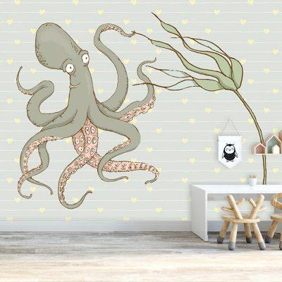 dekoracja z motywem ośmiornicy