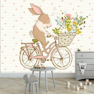 rower z królikiem
