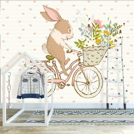 rower na tapecie