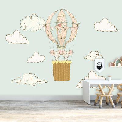 myszki jako dekoracja w balonie