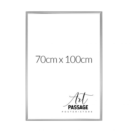 srebrna rama na plakat 70x100