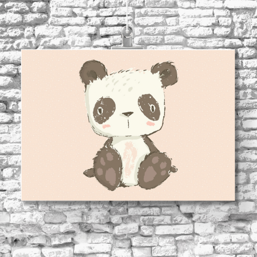 Dziecięcy plakat z pandą