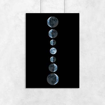 Plakat z motywem Księżyca