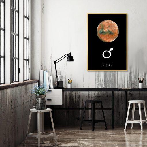 Plakat z motywem planety