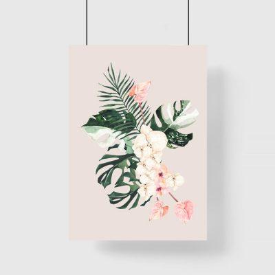 Plakat różowy do salonu