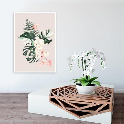 Plakat tropikalny do salonu