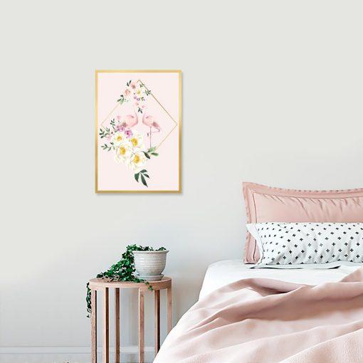 Różowy plakat do sypialni