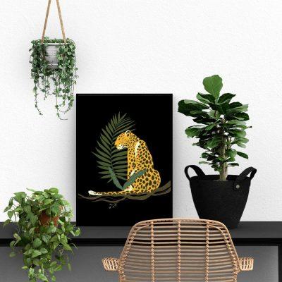 Plakat z gepardem