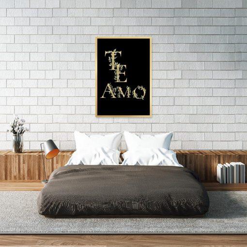 Czarno-żółty plakat do sypialni
