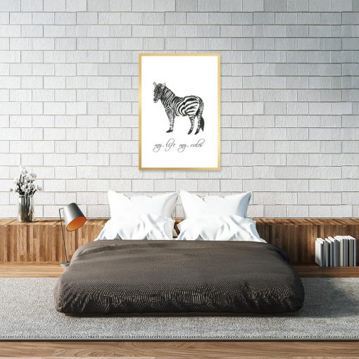 Plakat z zebrą do sypialni