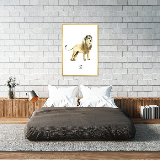 Plakat z motywem lwa