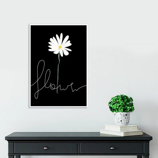 Plakat z kwiatem do przedpokoju