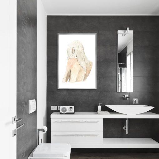 Plakat z kobietą do łazienki