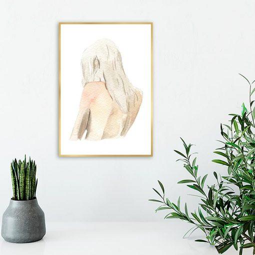 Plakat z ilustracją pleców kobiety