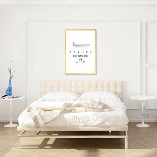 Plakat z napisem o pięknie