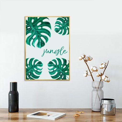 Plakat tropikalne liście