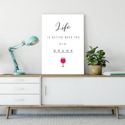 Plakat o alkoholu