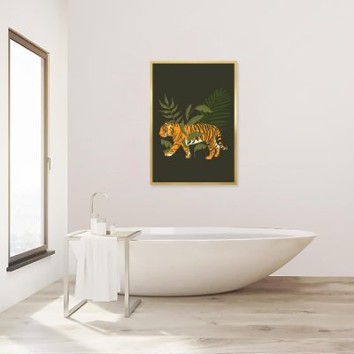 Plakat ciemnozielony do łazienki
