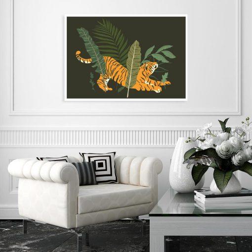 Plakat motyw tropikalny