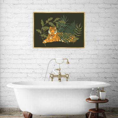 Tropikalny plakat do łazienki