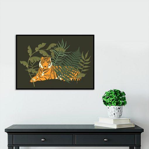 Plakat tropikalny do przedpokoju