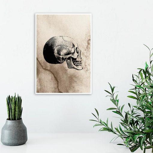 Plakat z motywem czaszki do salonu