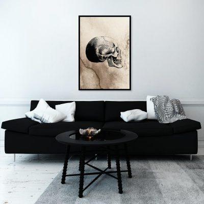Plakat rysunek czaszki