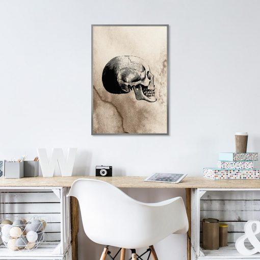 Plakat vintage z czaszką
