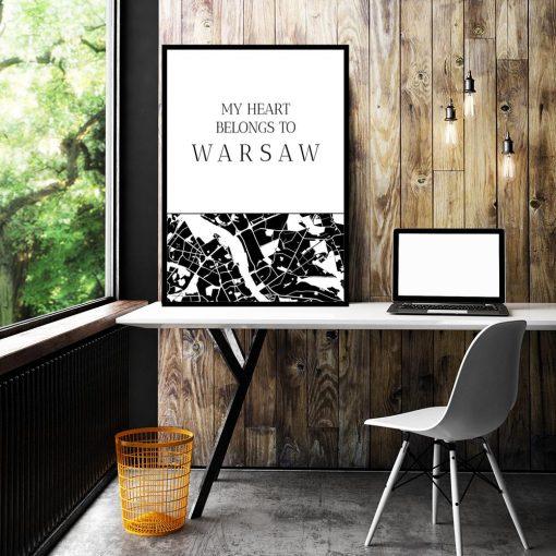Plakat typograficzny do biura