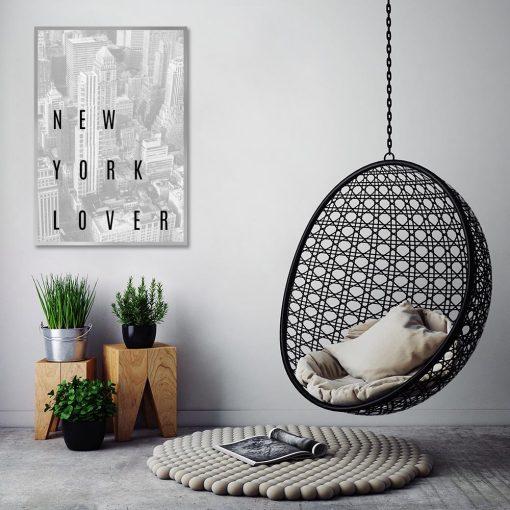 Szary plakat Nowy Jork