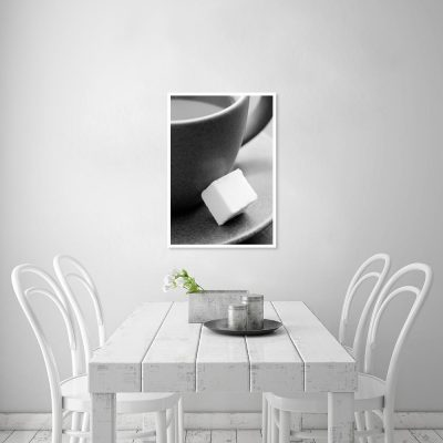 Plakat czarno-biały do kuchni