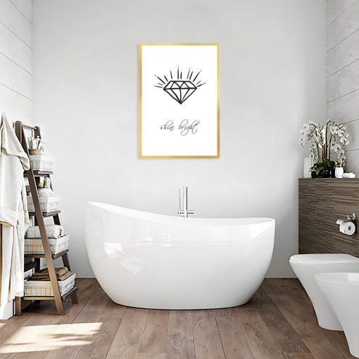 Plakat czarno-biały do łazienki