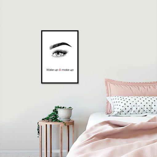 Plakat wake up and make up
