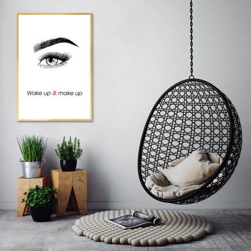 Plakat oko i napis