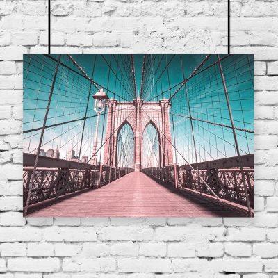 Plakat most w Nowym Jorku