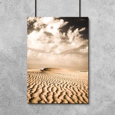Plakat krajobraz pustynny