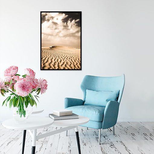 Plakat widok pustyni