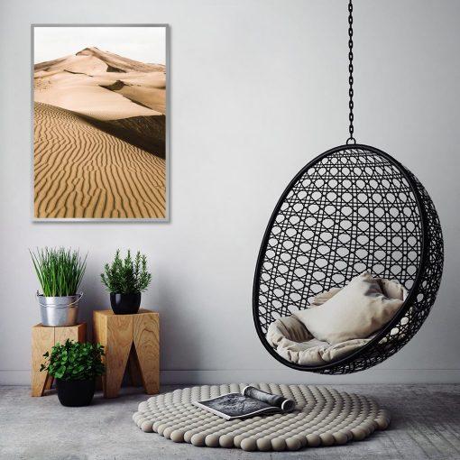 Plakat z krajobrazem pustyni