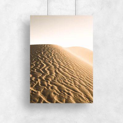 Plakat z widokiem pustyni
