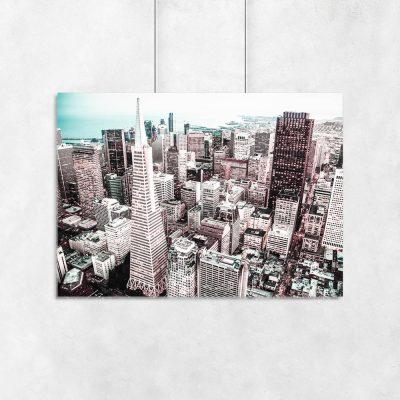 Plakat miejska architektura