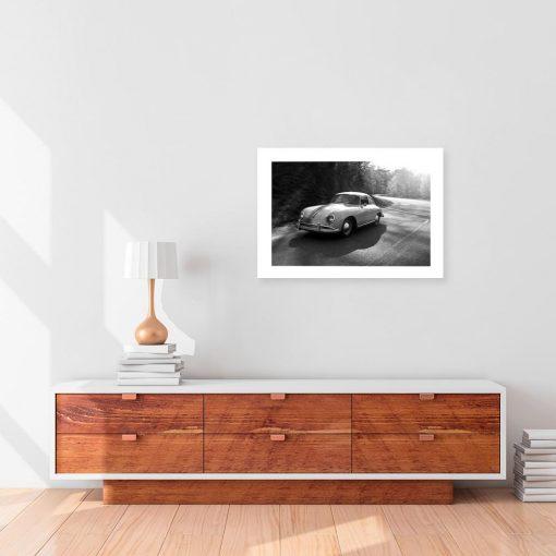 Czarno-biały plakat do salonu