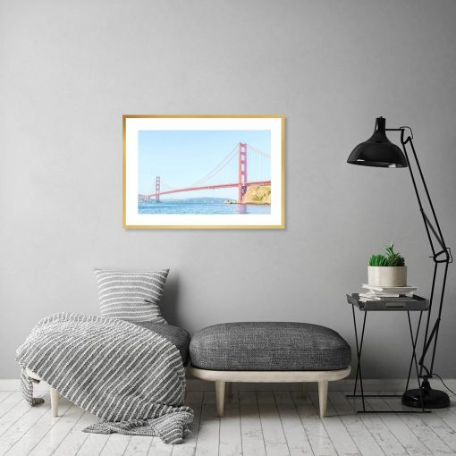 Plakat z motywem mostu